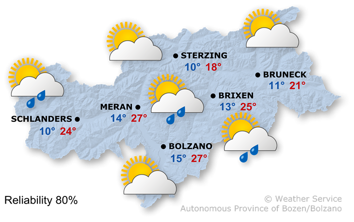 The weather today, 24.06.2018