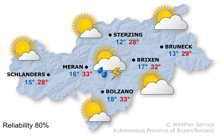 The weather today, 21.08.2018