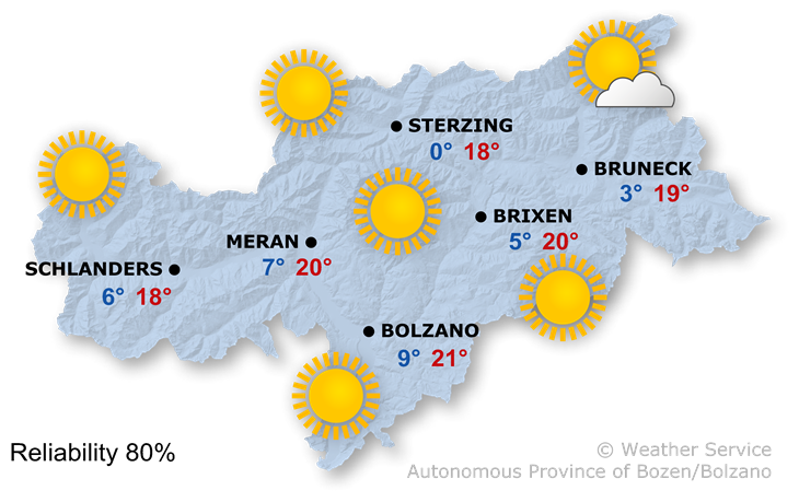 The weather today, 20.10.2018