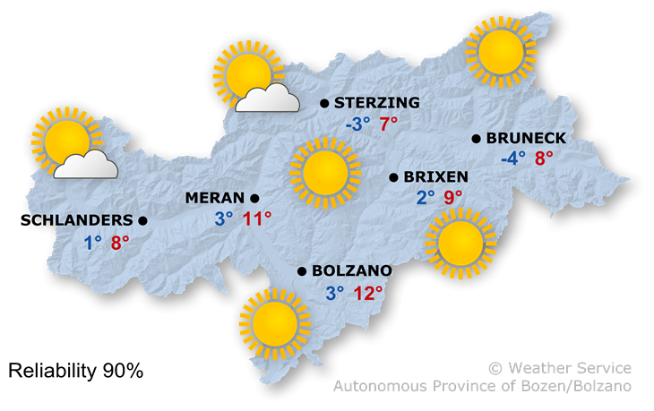 The weather today, 17.11.2018