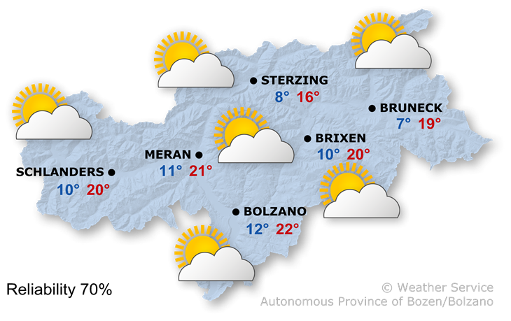 The weather today, 25.04.2019