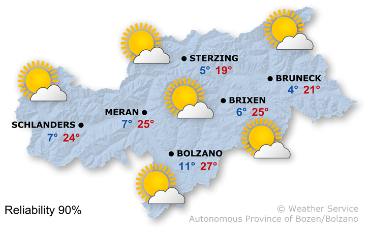 The weather today, 23.05.2019