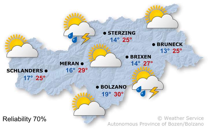 The weather today, 24.08.2019