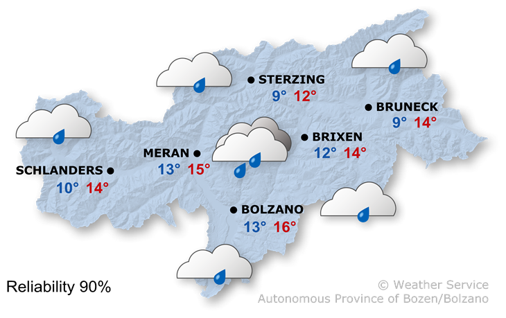 The weather today, 19.10.2019