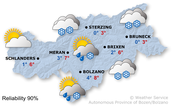 The weather today, 13.11.2019