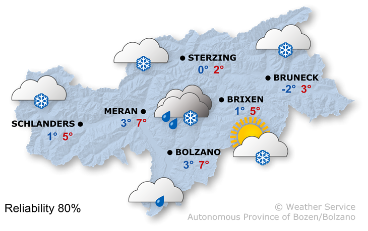The weather today, 28.01.2020