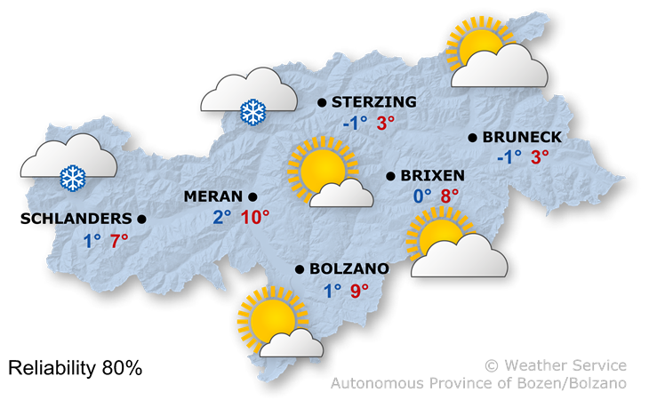 The weather today, 29.01.2020