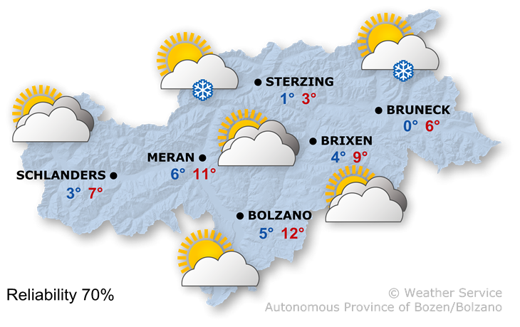 The weather today, 26.02.2020