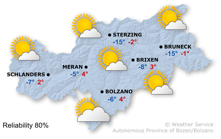 The weather today, 20.01.2021