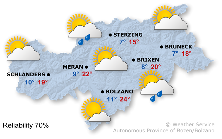 The weather today, 17.05.2021