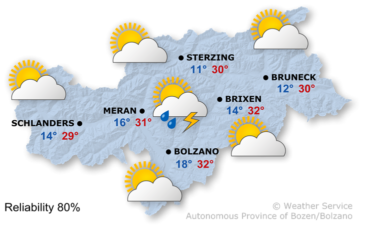 The weather today, 16.06.2021
