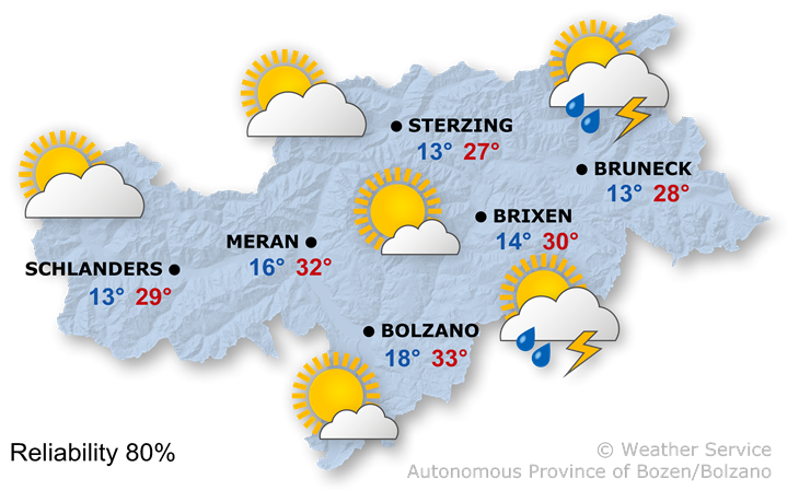 The weather today, 24.06.2021