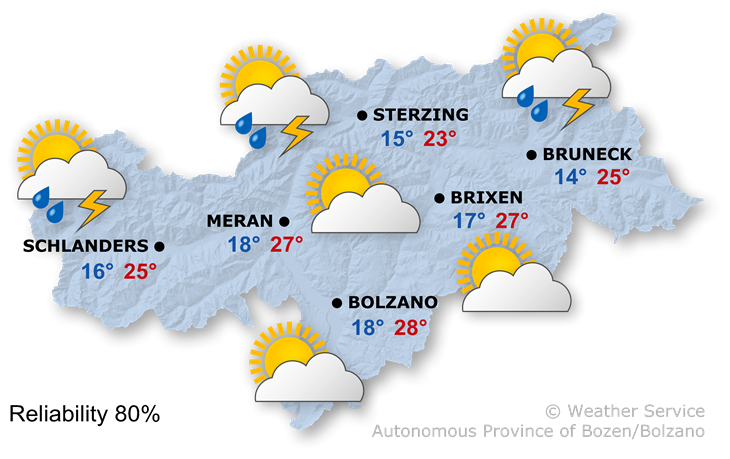 The weather today, 28.07.2021