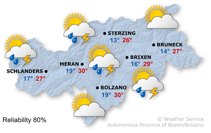 The weather today, 30.07.2021