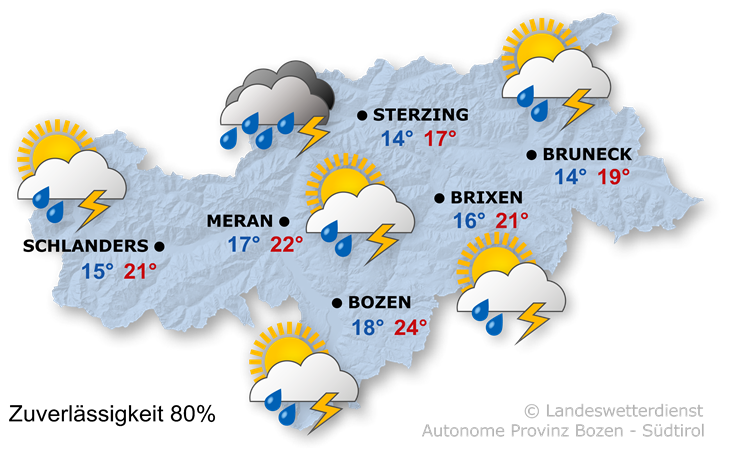 Das Wetter heute, 01.08.2021