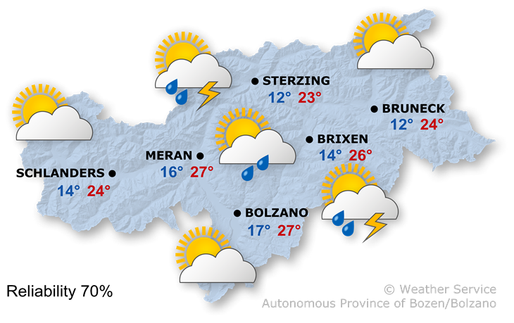 Tomorrow's weather forecast, 28.05.2018