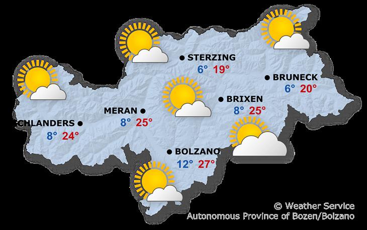 Tomorrow's weather forecast, 24.05.2019