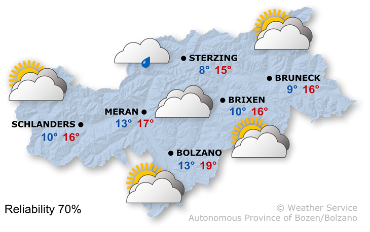 The weather today, 20.10.2019