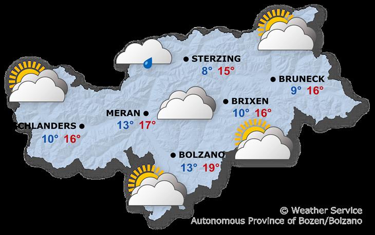 Tomorrow's weather forecast, 20.10.2019