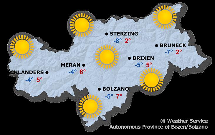 Tomorrow's weather forecast, 06.12.2019