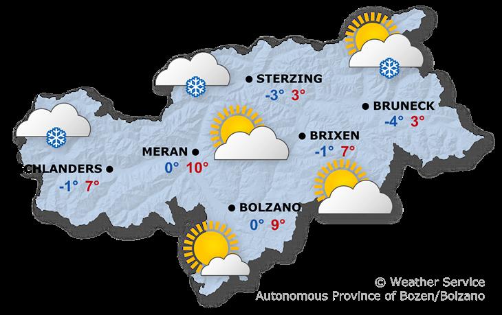 Tomorrow's weather forecast, 29.01.2020