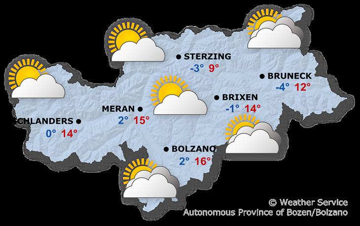 Tomorrow's weather forecast, 17.04.2021
