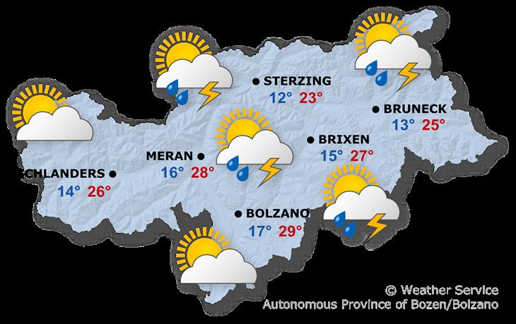 Tomorrow's weather forecast, 25.06.2021